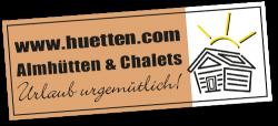 huetten.com Almhütten & Chalets Urlaub urgemütlich Logo